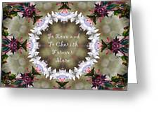 To Love And To Cherish Forever More Greeting Card