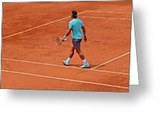 Rafael Nadal To The Baseline Greeting Card