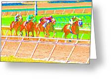To The Finish Line Greeting Card