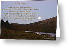 To The Full Moon Greeting Card
