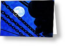 To The Moon Alice Greeting Card by Mike Flynn