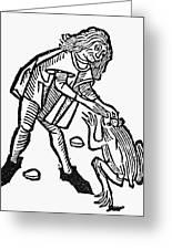 Toadstone, 1491 Greeting Card