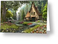 Toadstool Cottage Greeting Card