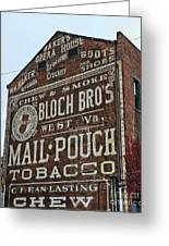 Tobacciana - Mail Pouch Tobacco Greeting Card