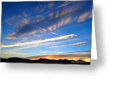 Tobacco Root Mountains At Sunset 1 Greeting Card