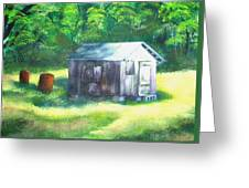 Tobacco Shed Greeting Card