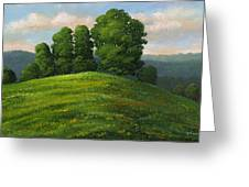 Toboggan Hill Greeting Card