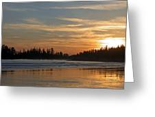 Tofino Winter Sunset Greeting Card by Don F  Bradford
