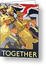 Together Propaganda Poster Greeting Card by Anonymous