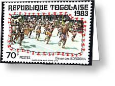 Togo Stamp Greeting Card