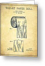 Toilet Paper Roll Patent Drawing From 1891 - Vintage Greeting Card