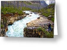 Tokuum Creek Flowing Into Marble Canyon In Kootenay Np-bc Greeting Card