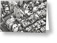 Tokyo City Black And White Greeting Card