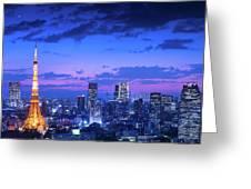Tokyo Night View Greeting Card