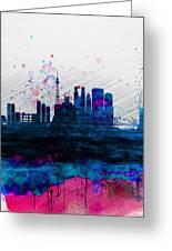 Tokyo Watercolor Skyline 2 Greeting Card