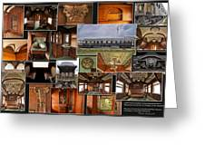 Toledo Peoria Western Pullman Rr Car Collage Greeting Card