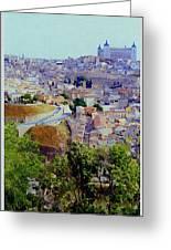 Toledo Spain In Blue Greeting Card
