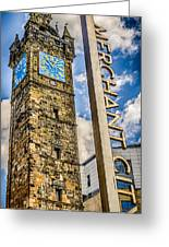 Tollbooth Clock Tower Glasgow Greeting Card