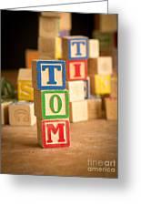 Tom - Alphabet Blocks Greeting Card