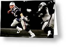 Tom Brady Scramble Greeting Card