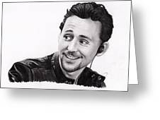 Tom Hiddleston 2 Greeting Card