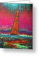 Tom Ray's Sailboat 3 Greeting Card