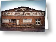 Tomahawk Garage Greeting Card