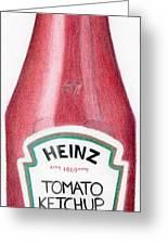 Tomato Ketchup Greeting Card by Bav Patel