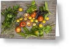 Tomatoes And Herbs Greeting Card
