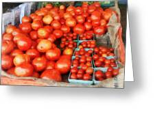 Tomatoes For Sale Greeting Card