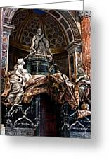 Tomb Of Pope Alexander Vii By Bernini Greeting Card