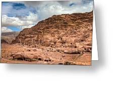 Tombs Of Petra Greeting Card