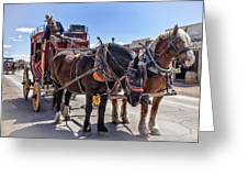 Tombstone Stagecoach 2 Greeting Card