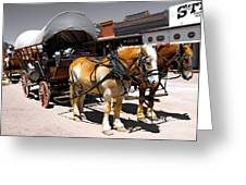 Tombstone Wagon Greeting Card