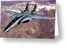 Tomcat Over Iraq Greeting Card