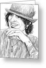 Tommy Lee Art Drawing Sketch Portrait Greeting Card