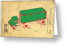 Tonka Truck Patent Greeting Card