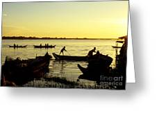 Tonle Sap Sunrise 05 Greeting Card