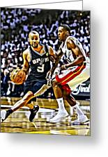 Tony Parker Painting Greeting Card