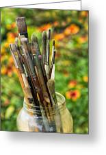 Tools Of The Painter Greeting Card