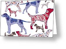 Top Dogs Greeting Card