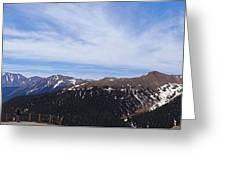 Top Of Independence Pass Panorama Greeting Card