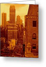 Top Of Manhattan Greeting Card