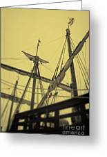Top Of Old Ship Greeting Card