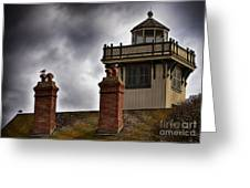 Top Of Point Fermin Lighthouse Greeting Card
