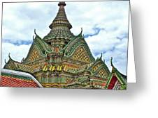 Top Of Temple In Wat Po In Bangkok-thailand Greeting Card