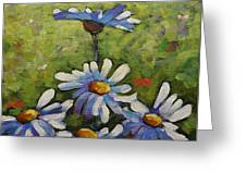 Top Of The Bunch Daisies By Prankearts Greeting Card
