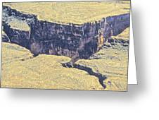 Above The Canyon Top   Greeting Card
