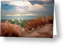 Top Of The Dune Greeting Card