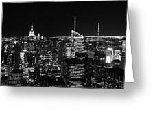 Top Of The Rock In Black And White Greeting Card